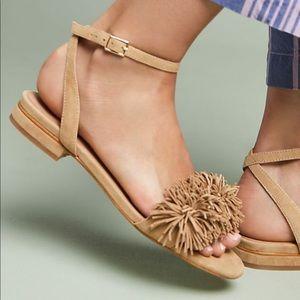 Anthropologie Leather Fridge Suede Sandals Summer